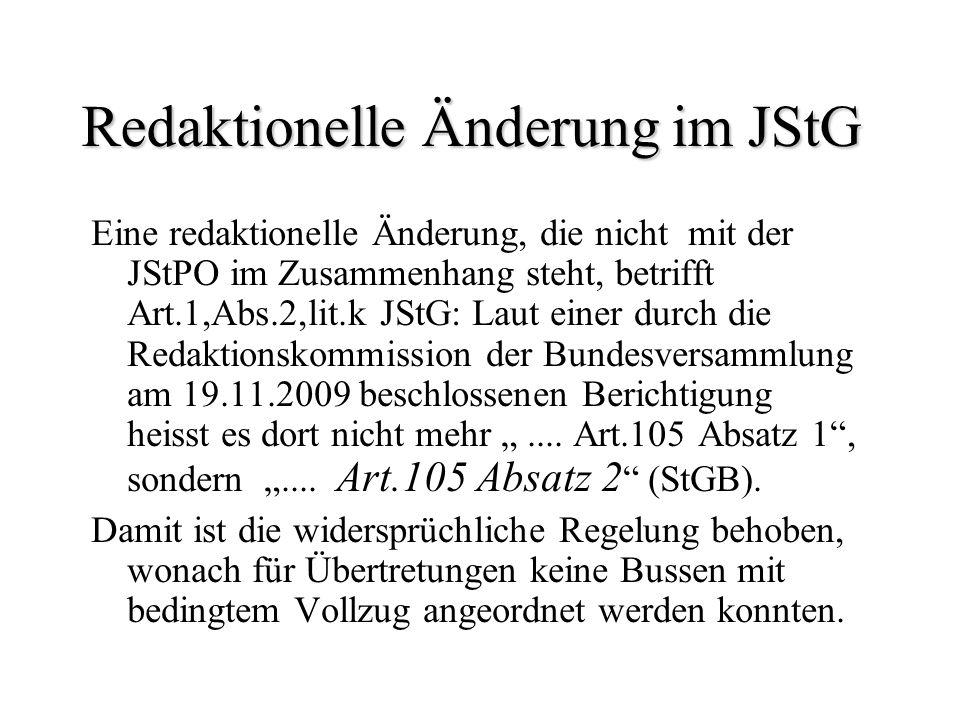 Redaktionelle Änderung im JStG