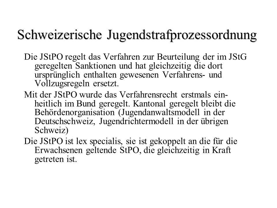 Schweizerische Jugendstrafprozessordnung