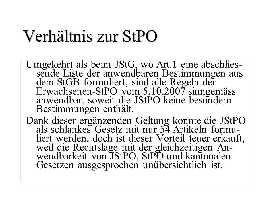 Verhältnis zur StPO