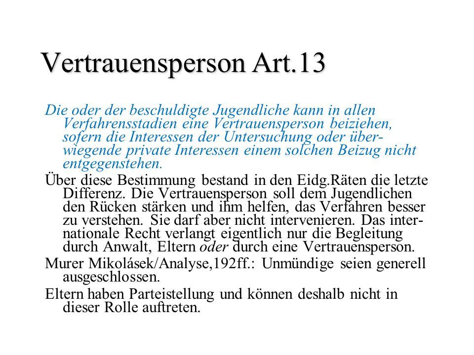Vertrauensperson Art.13