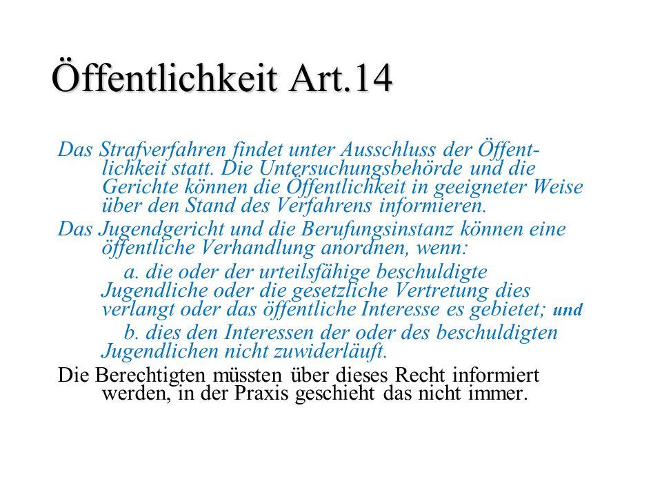 Öffentlichkeit Art.14