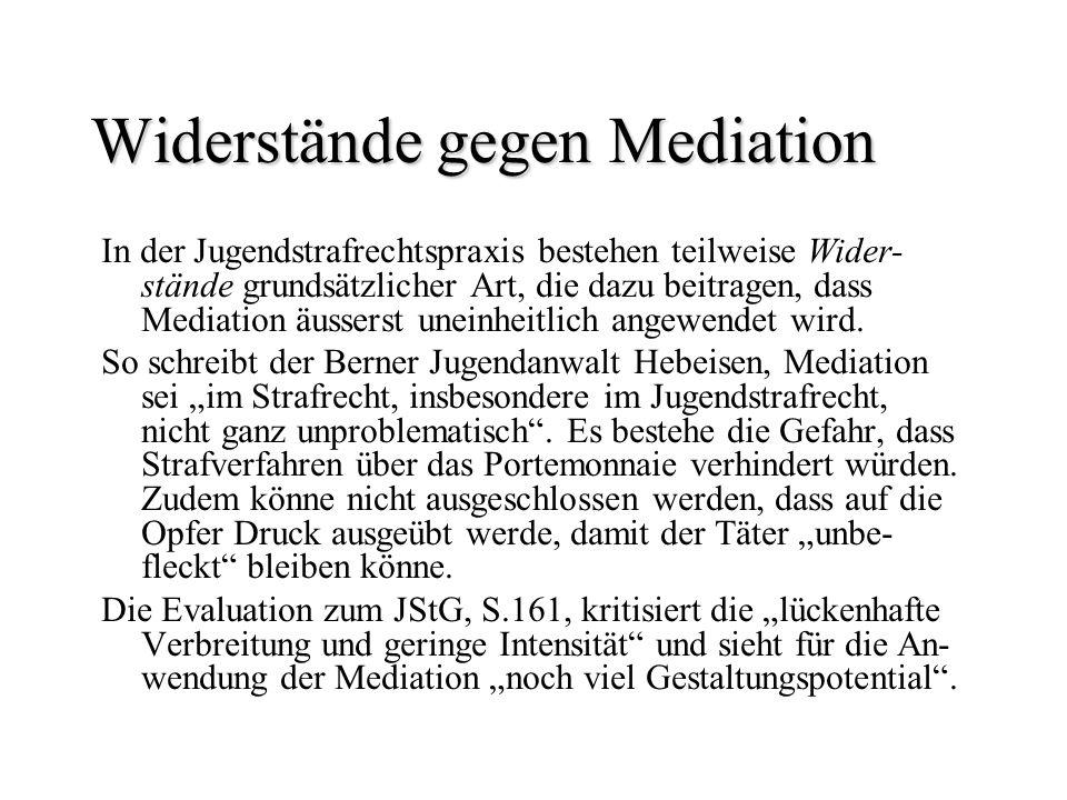 Widerstände gegen Mediation