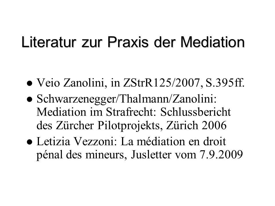 Literatur zur Praxis der Mediation