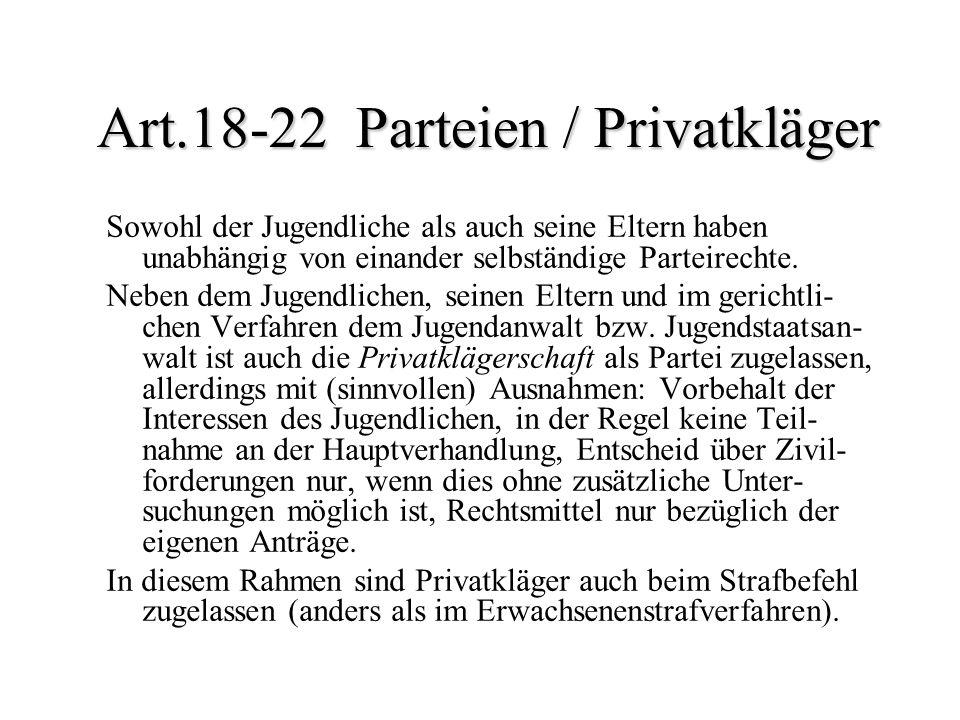Art.18-22 Parteien / Privatkläger
