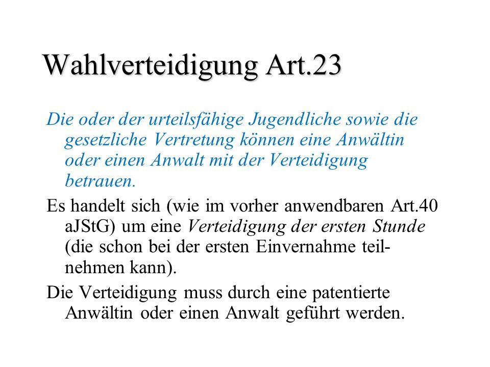 Wahlverteidigung Art.23