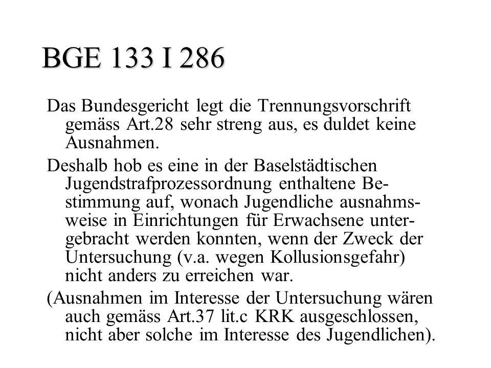 BGE 133 I 286 Das Bundesgericht legt die Trennungsvorschrift gemäss Art.28 sehr streng aus, es duldet keine Ausnahmen.