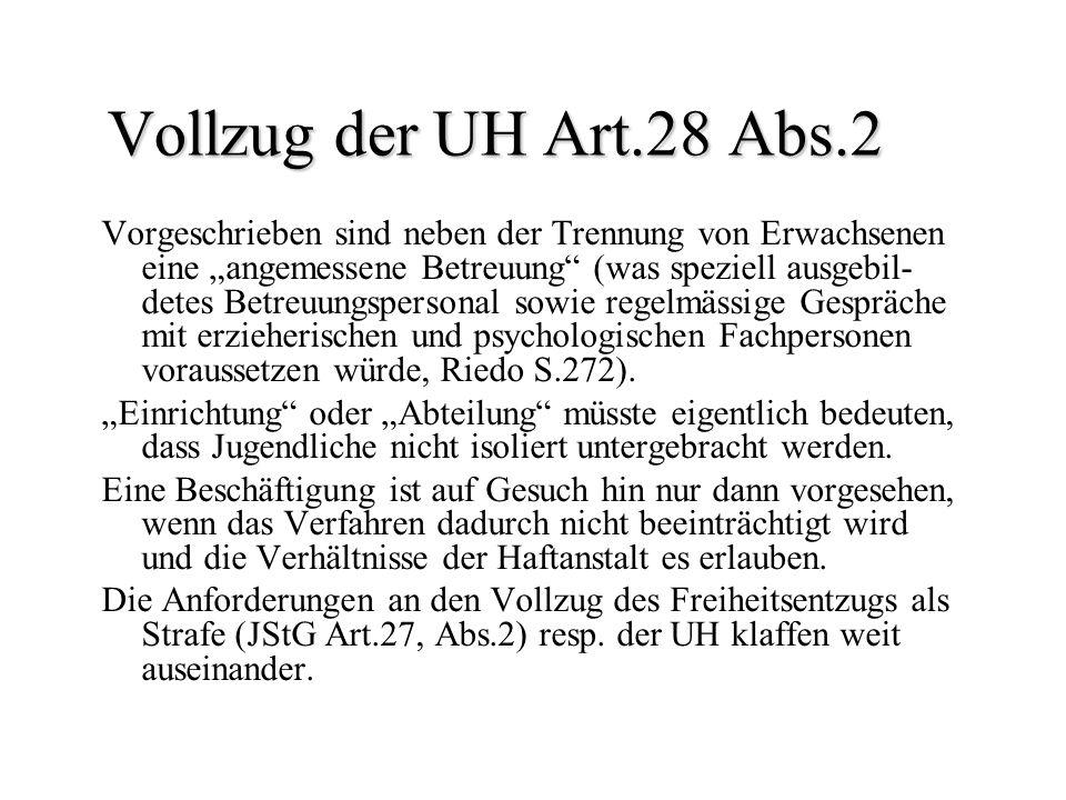 Vollzug der UH Art.28 Abs.2