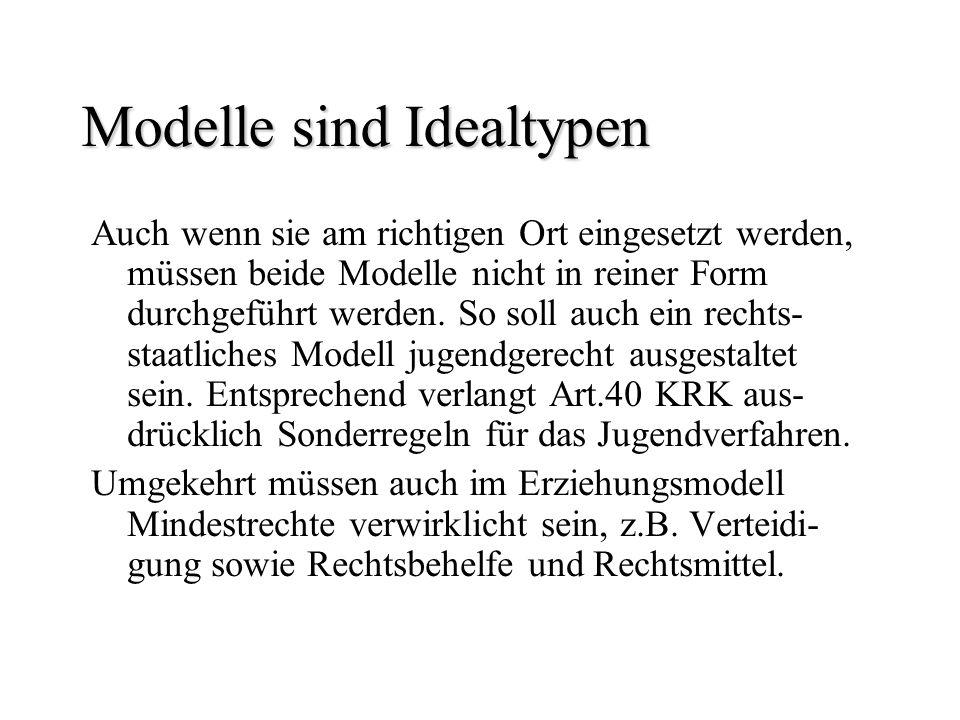 Modelle sind Idealtypen