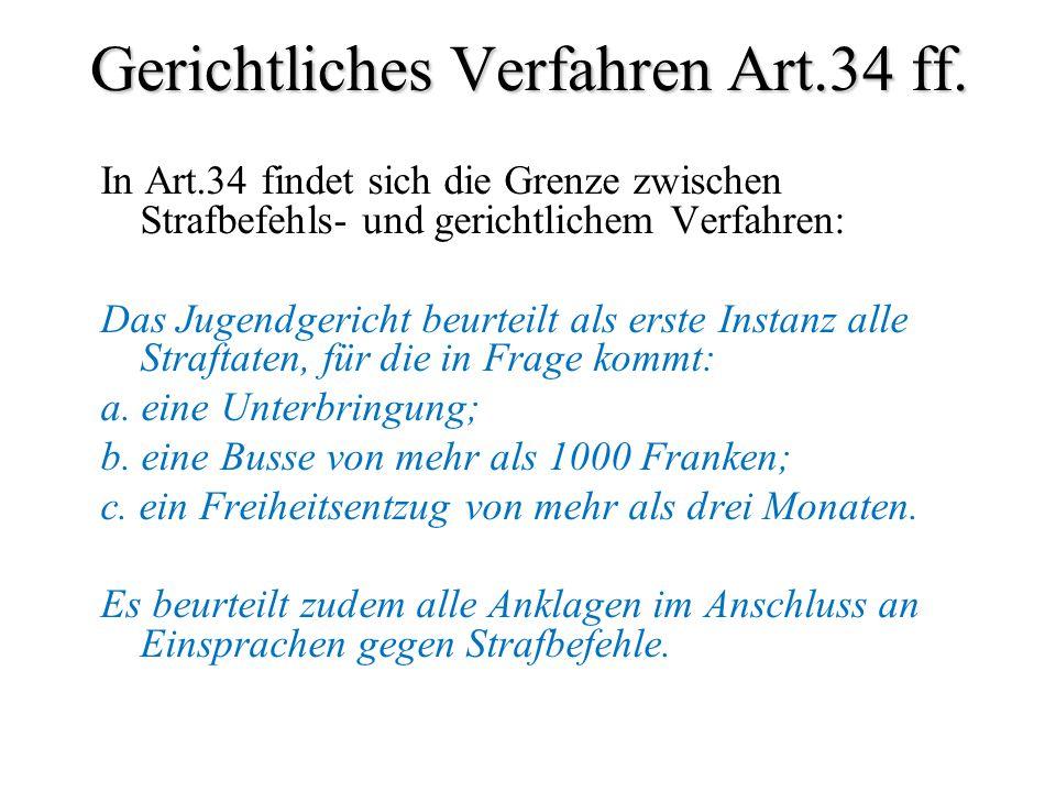 Gerichtliches Verfahren Art.34 ff.