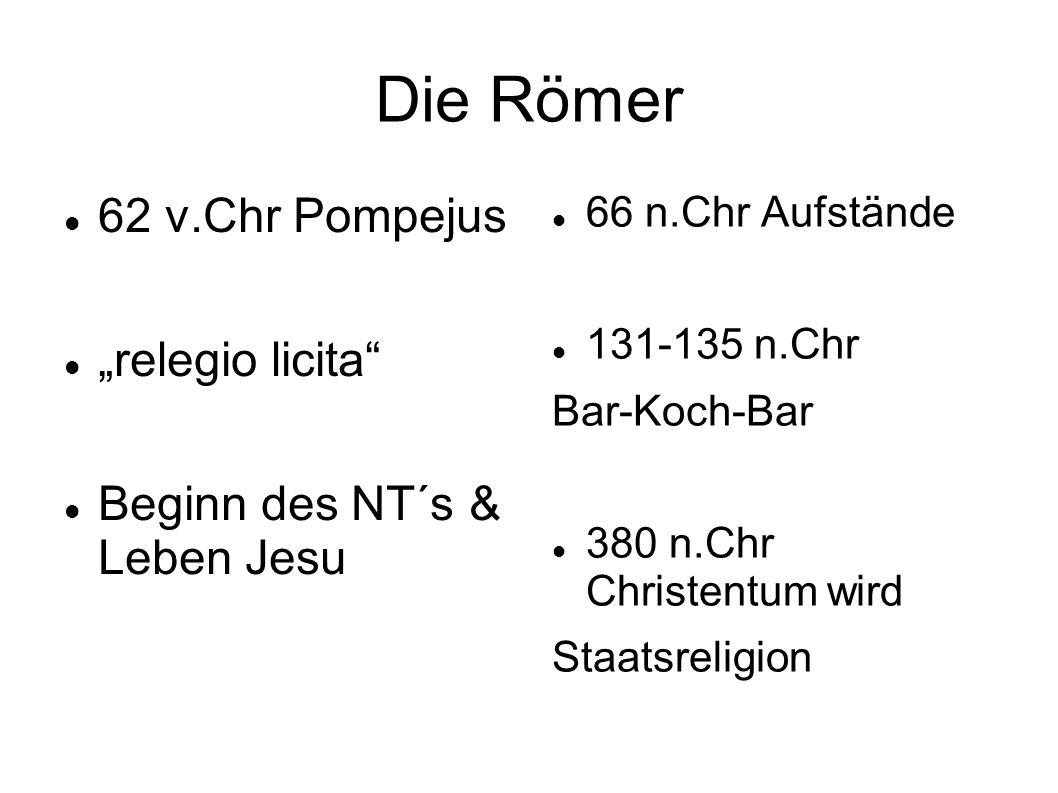 """Die Römer 62 v.Chr Pompejus """"relegio licita"""