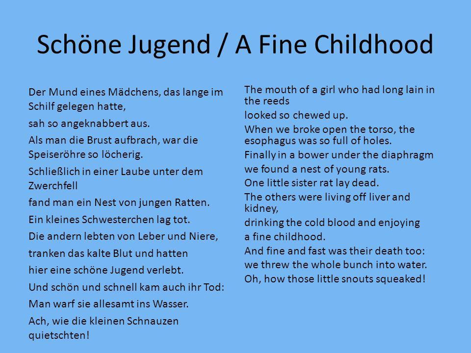 Schöne Jugend / A Fine Childhood