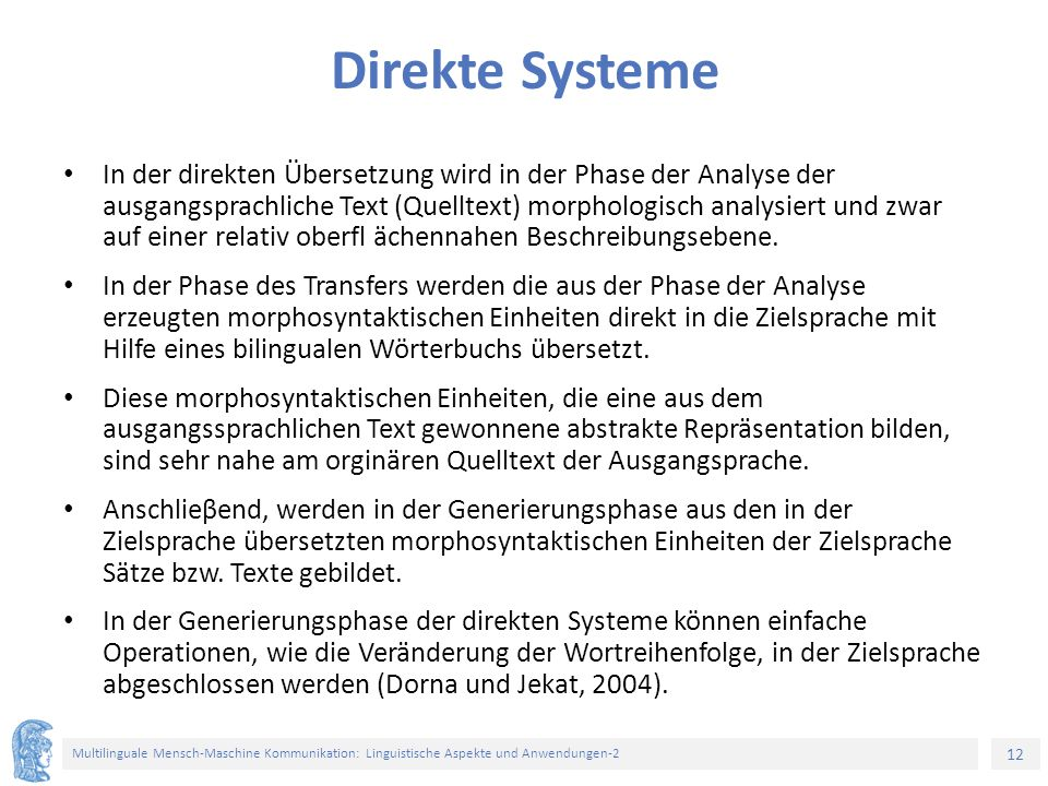 Direkte Systeme