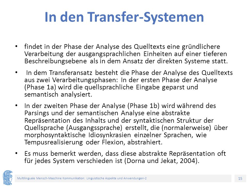 In den Transfer-Systemen