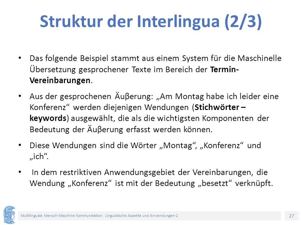 Struktur der Interlingua (2/3)