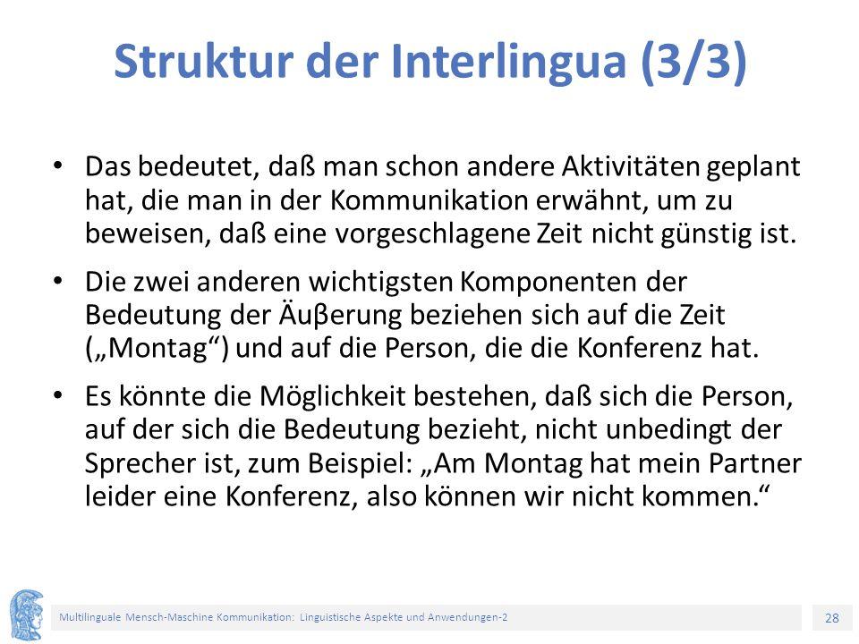Struktur der Interlingua (3/3)