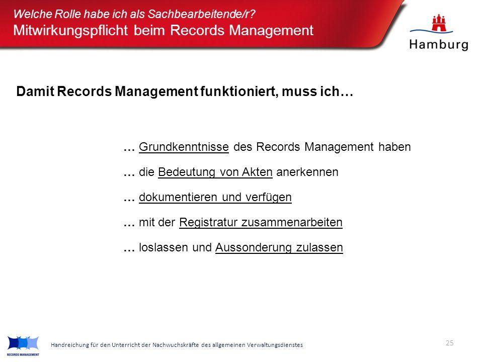 Mitwirkungspflicht beim Records Management