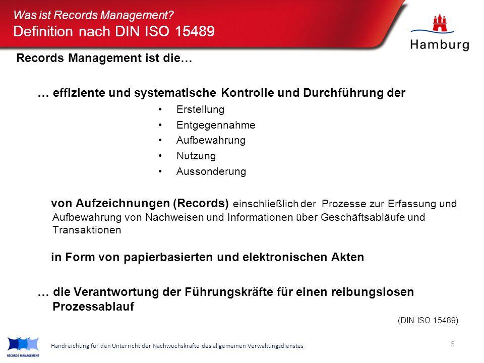Definition nach DIN ISO 15489
