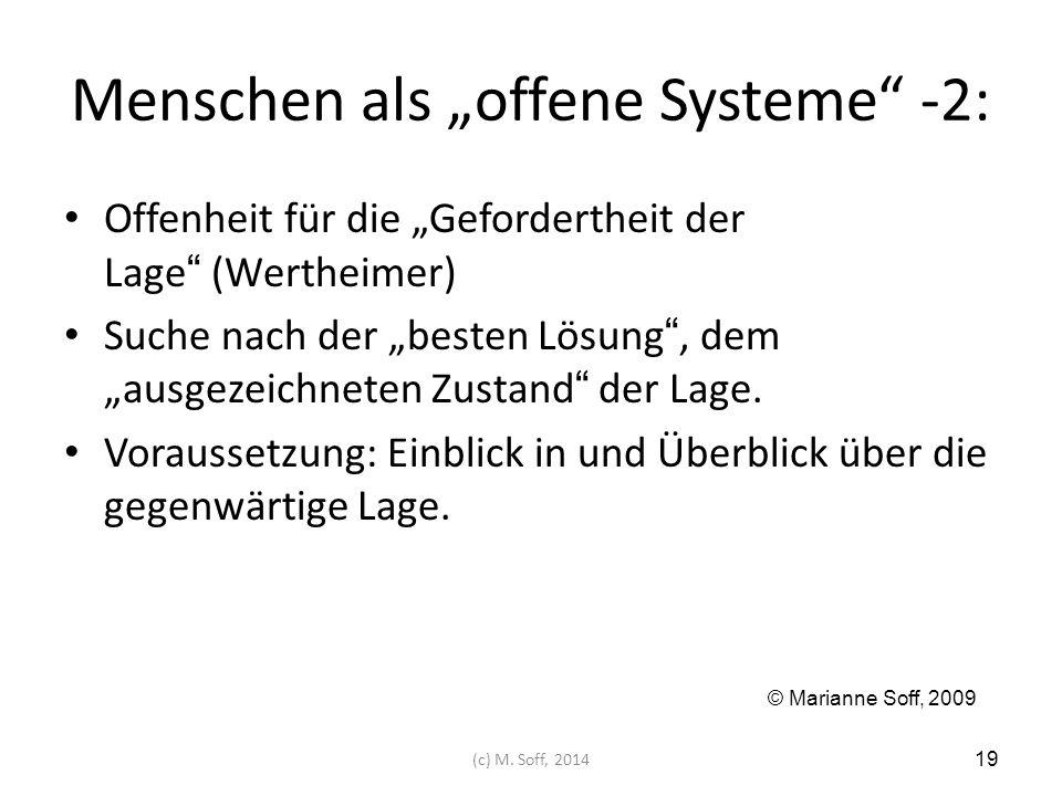 """Menschen als """"offene Systeme -2:"""