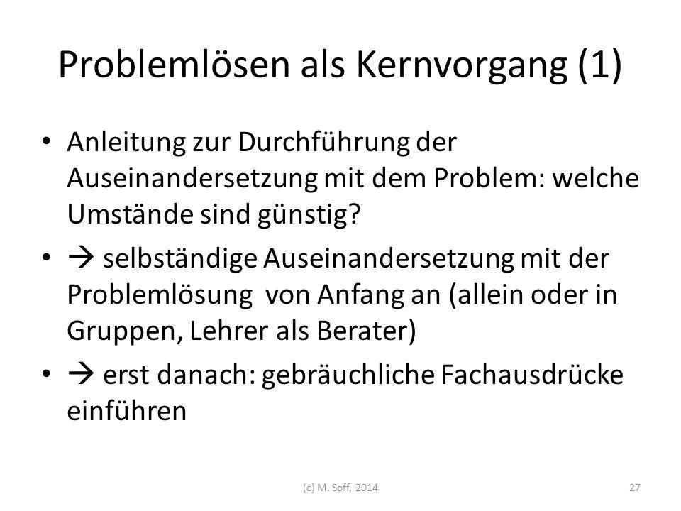 Problemlösen als Kernvorgang (1)