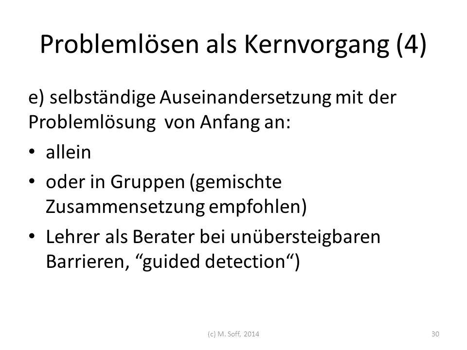 Problemlösen als Kernvorgang (4)