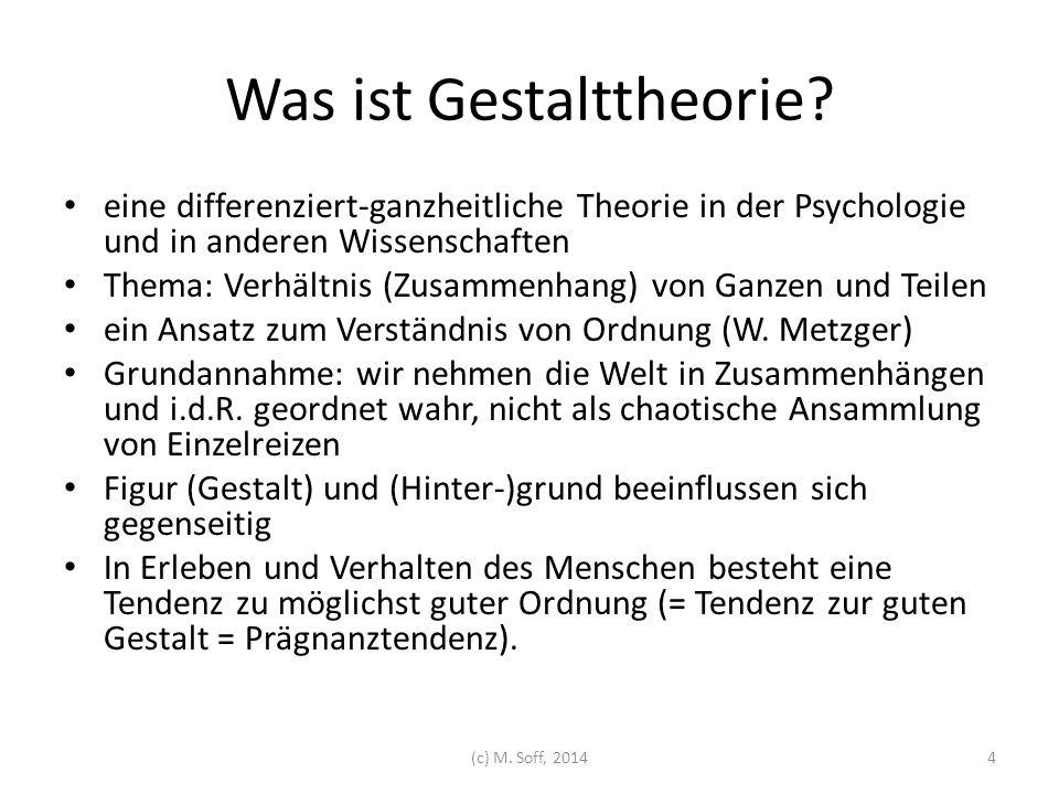 Was ist Gestalttheorie