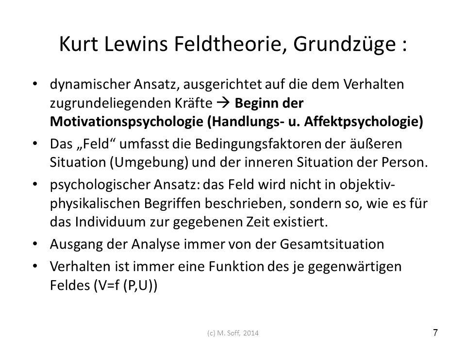 Kurt Lewins Feldtheorie, Grundzüge :