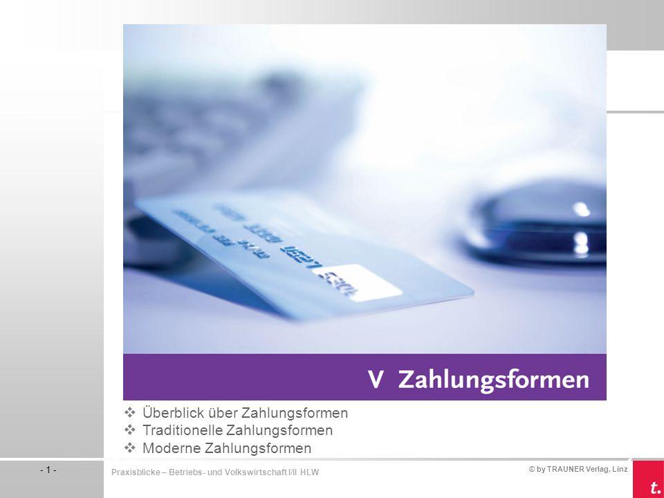 Überblick über Zahlungsformen