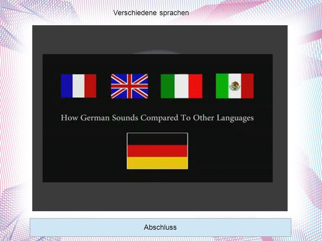 Verschiedene sprachen