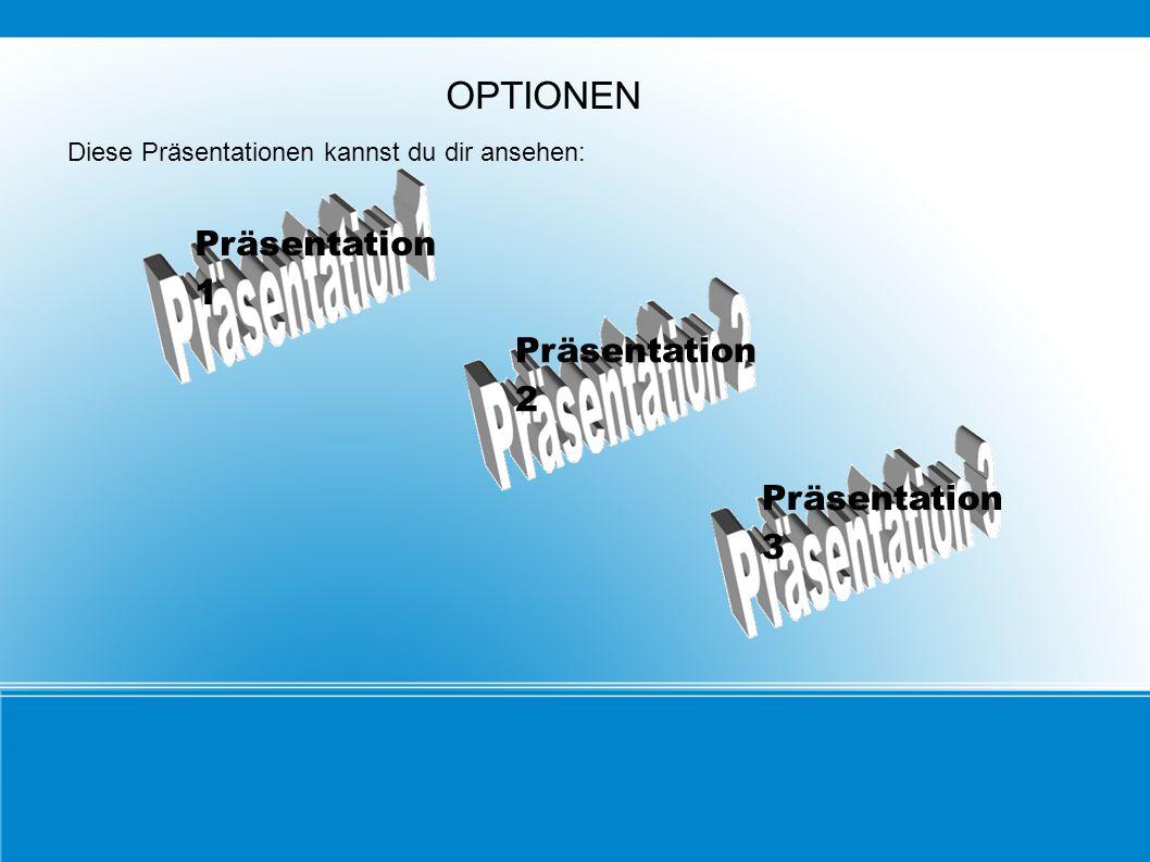 OPTIONEN Präsentation 1 Präsentation 2 Präsentation 3