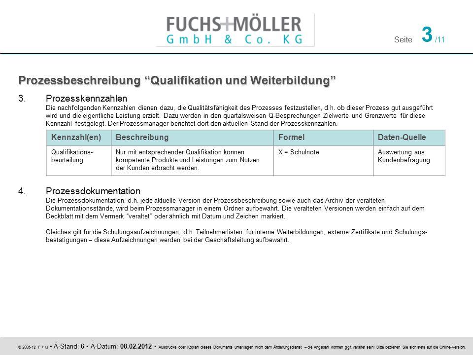 Prozessbeschreibung Qualifikation und Weiterbildung