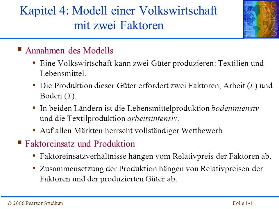Kapitel 4: Modell einer Volkswirtschaft mit zwei Faktoren