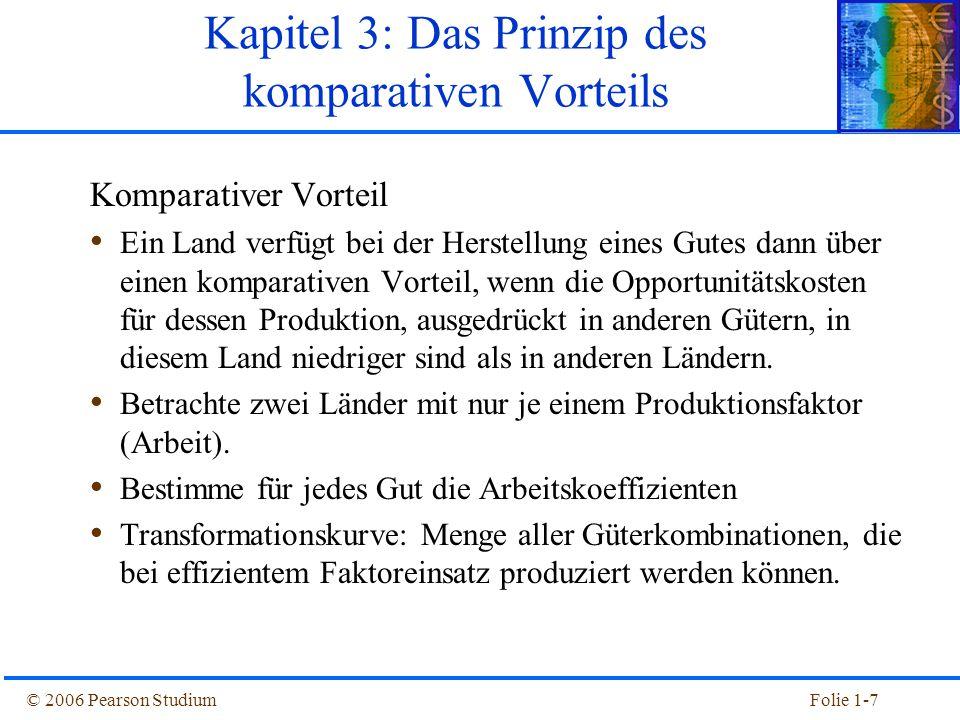 Kapitel 3: Das Prinzip des komparativen Vorteils