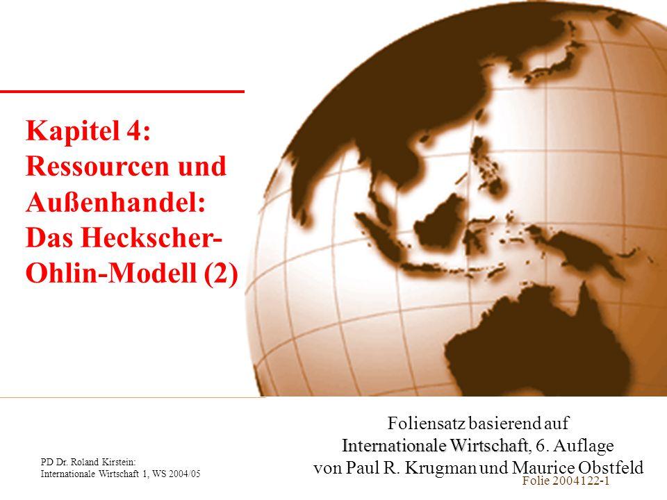 Kapitel 1 Einführung Kapitel 4: Ressourcen und Außenhandel: