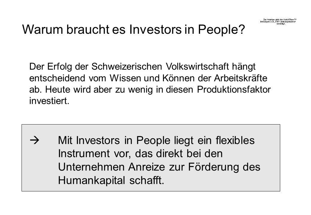 Warum braucht es Investors in People