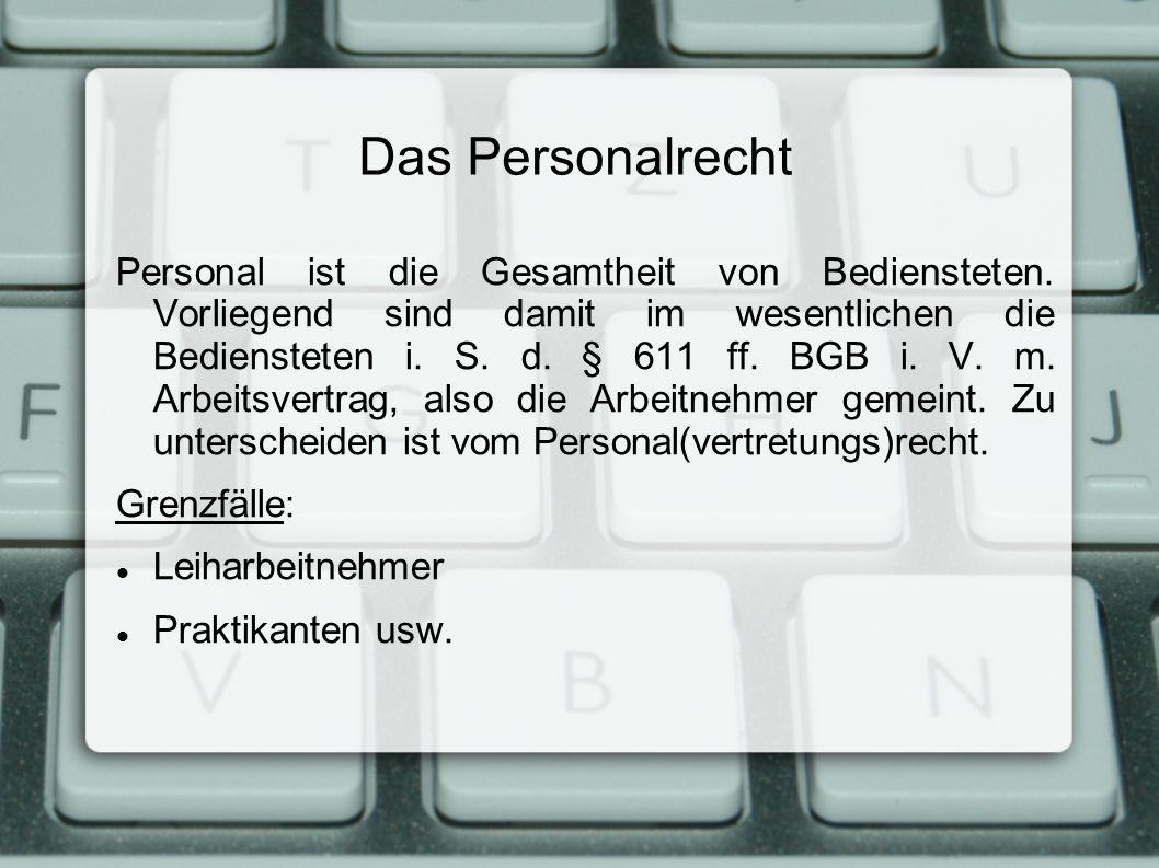 Das Personalrecht