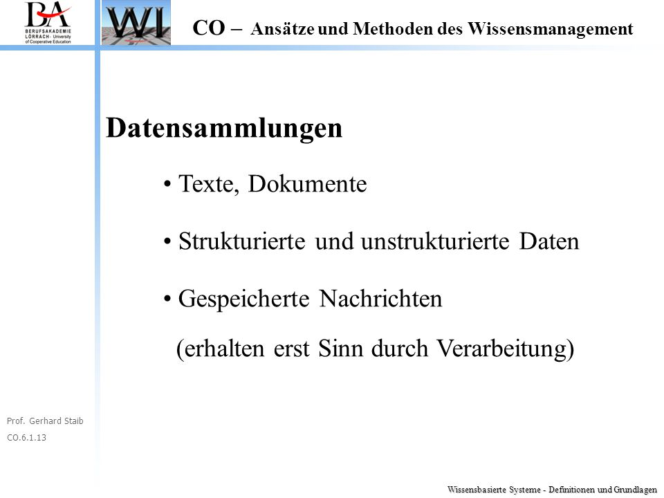 Datensammlungen Texte, Dokumente