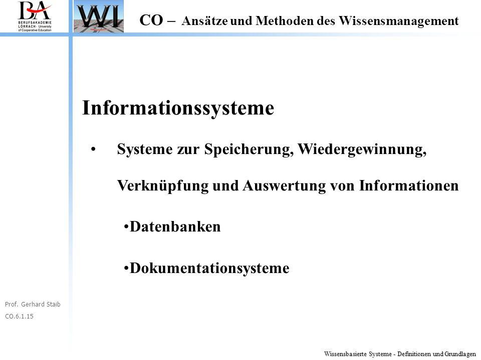 Informationssysteme Systeme zur Speicherung, Wiedergewinnung, Verknüpfung und Auswertung von Informationen.