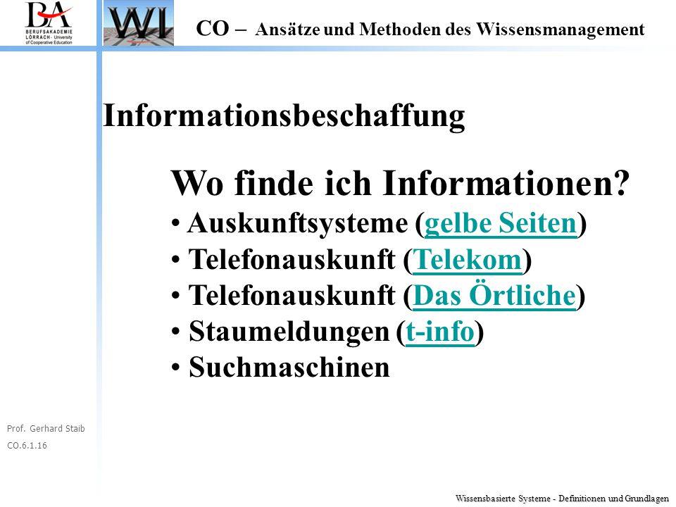 Wo finde ich Informationen