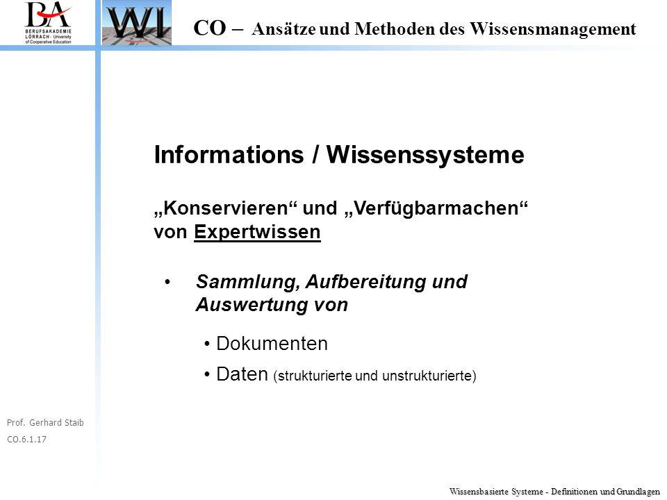 Informations / Wissenssysteme