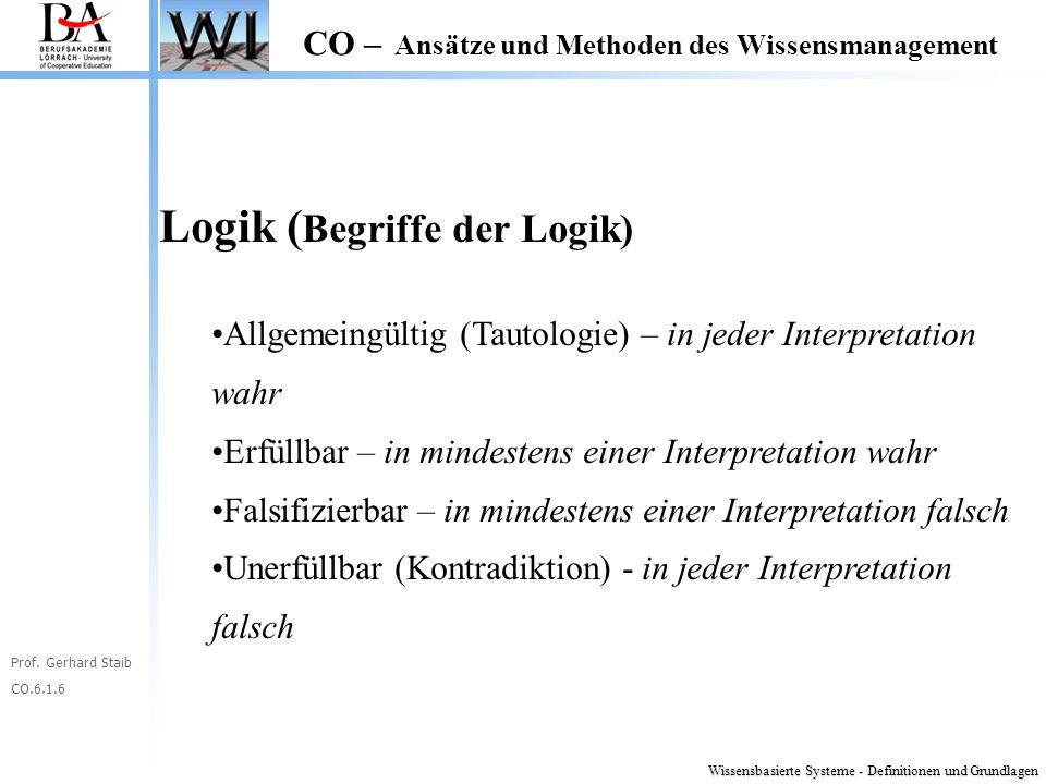 Logik (Begriffe der Logik)