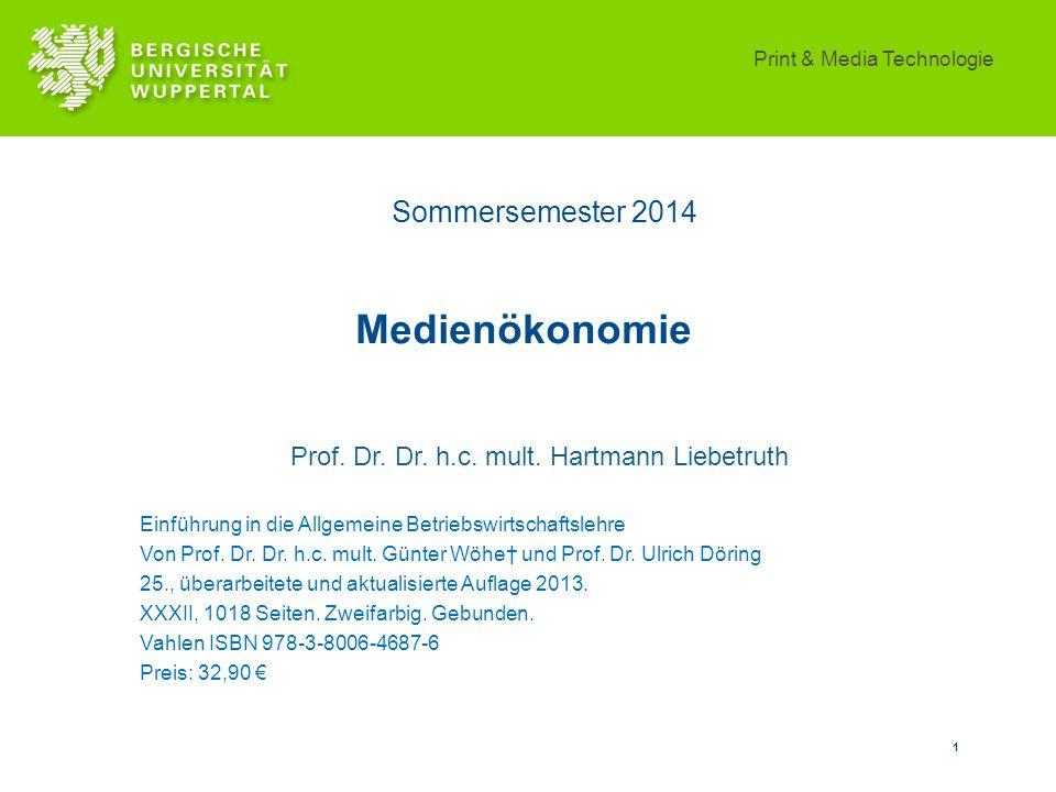 Prof. Dr. Dr. h.c. mult. Hartmann Liebetruth