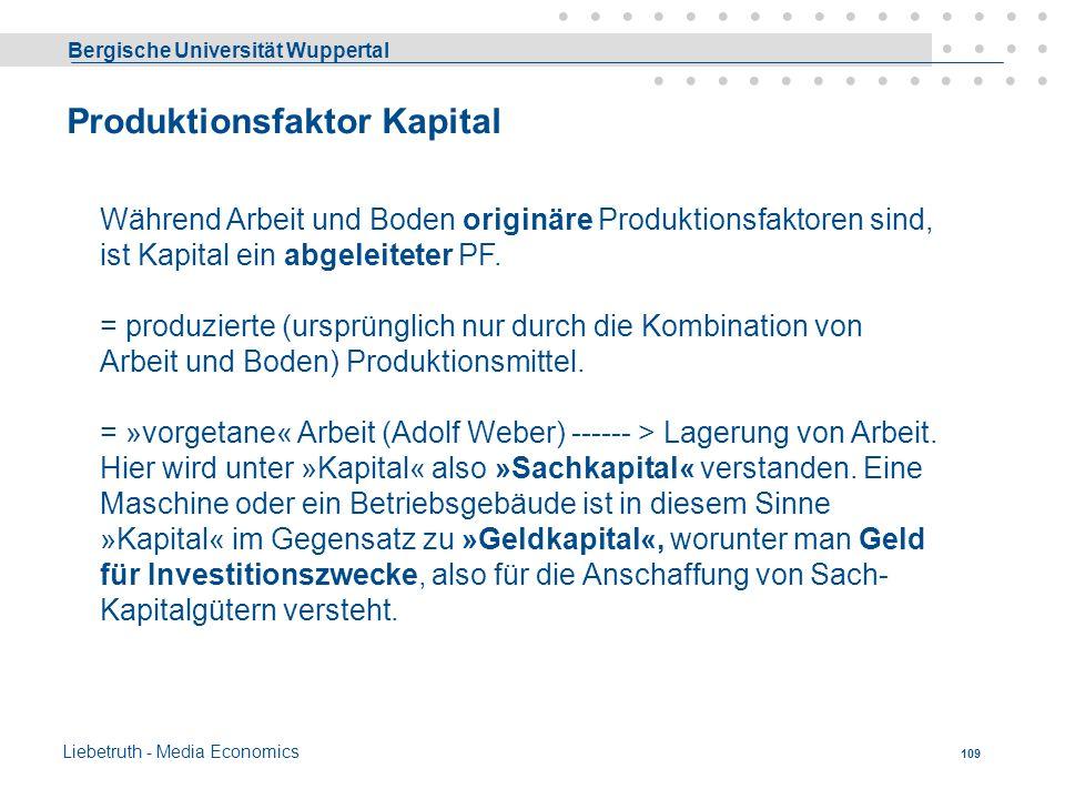 Produktionsfaktor Kapital