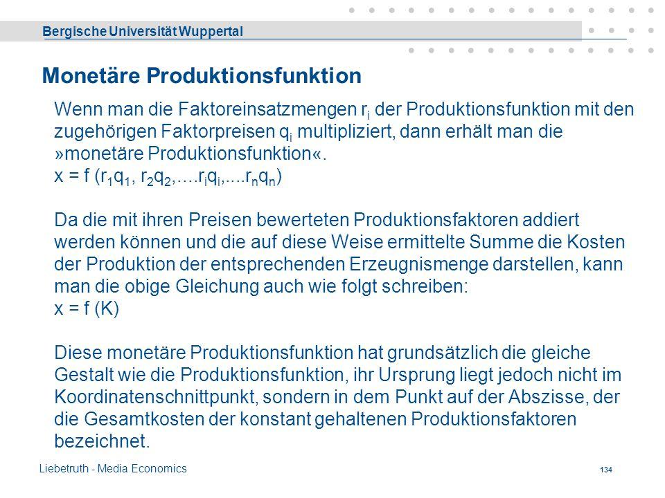 Monetäre Produktionsfunktion