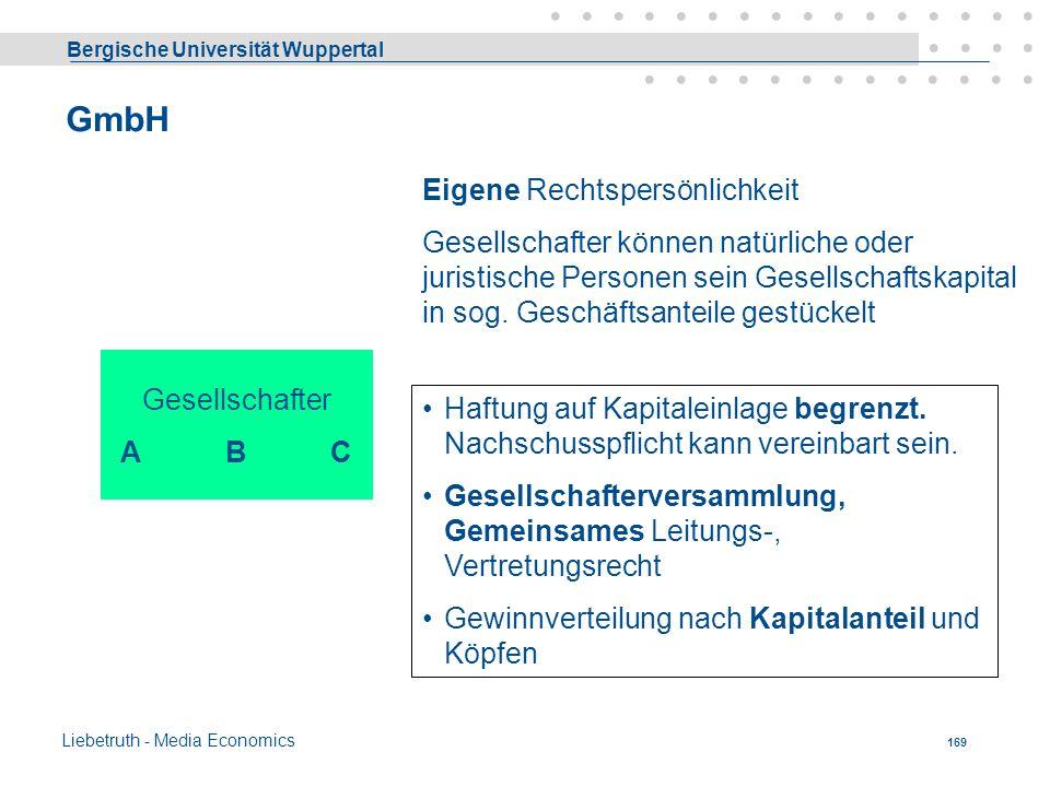 GmbH Eigene Rechtspersönlichkeit
