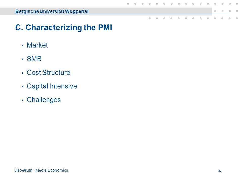 C. Characterizing the PMI