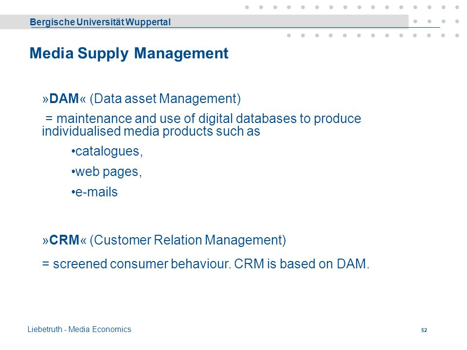Media Supply Management