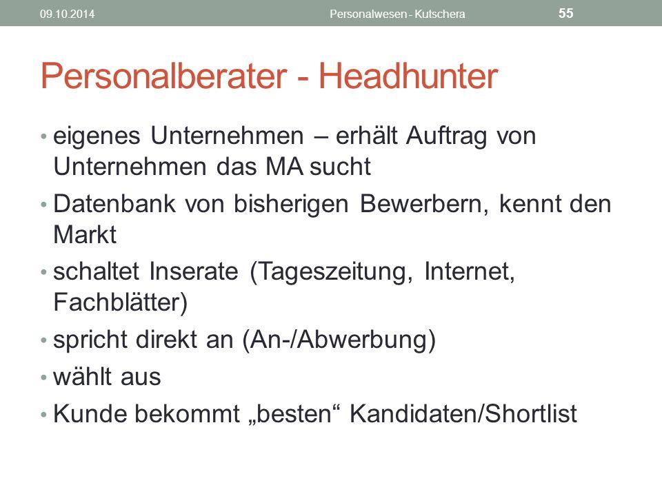 Personalberater - Headhunter