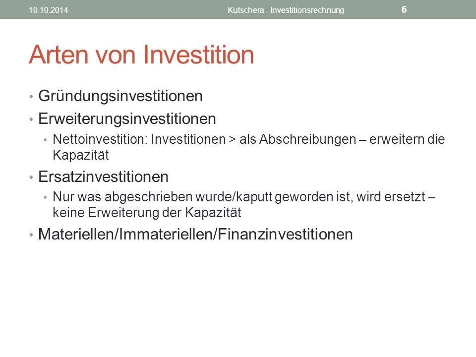 Kutschera - Investitionsrechnung