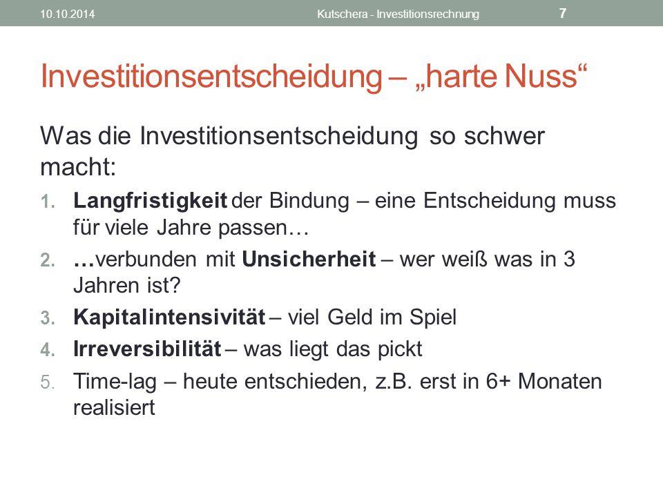 """Investitionsentscheidung – """"harte Nuss"""