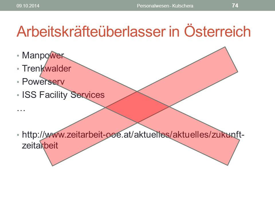 Arbeitskräfteüberlasser in Österreich